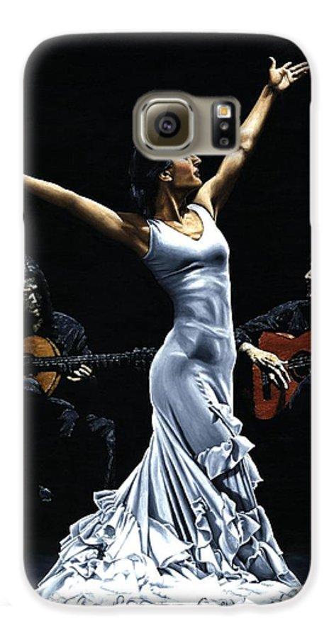 Flamenco Galaxy S6 Case featuring the painting Finale Del Funcionamiento Del Flamenco by Richard Young