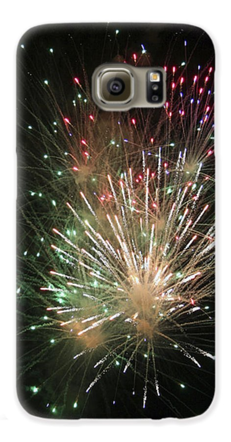 Fireworks Galaxy S6 Case featuring the photograph Fireworks by Margie Wildblood