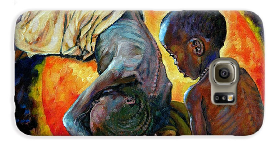 Starvation Galaxy S6 Case featuring the painting First Corinthians 1-25 by John Lautermilch