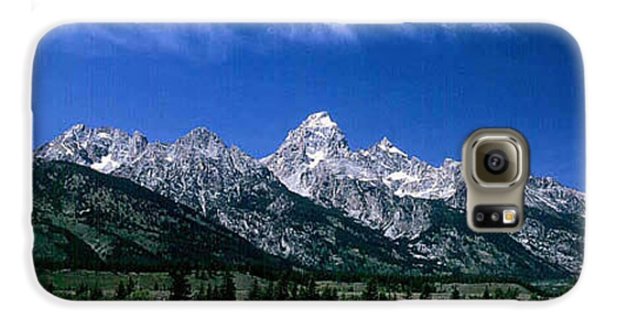 Mountains Galaxy S6 Case featuring the photograph First View Of Tetons by Kathy McClure