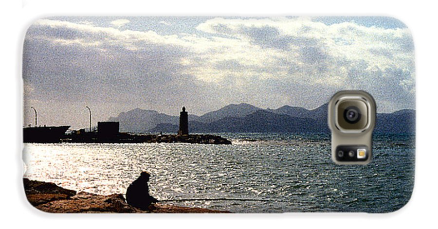 Fisherman Galaxy S6 Case featuring the photograph Fisherman In Nice France by Nancy Mueller