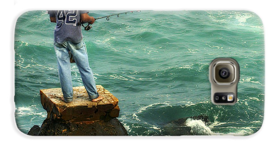 Americana Galaxy S6 Case featuring the photograph Fisherman by Marilyn Hunt