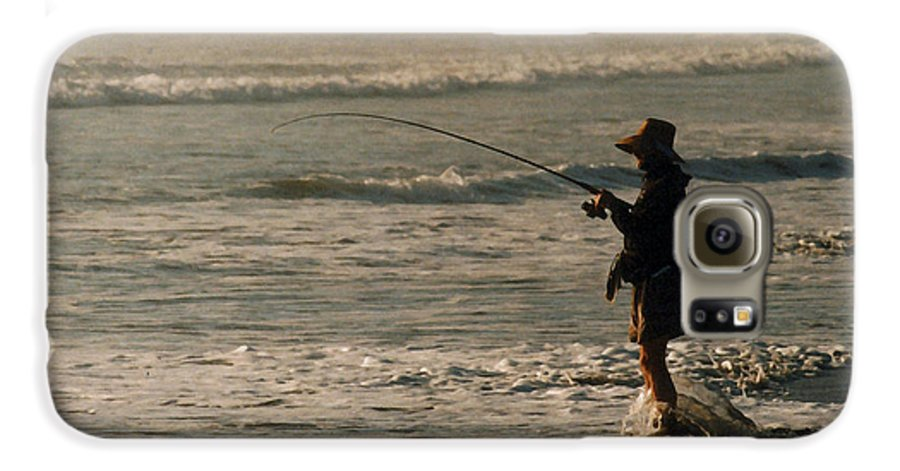 Fisherman Galaxy S6 Case featuring the photograph Fisherman by Steve Karol