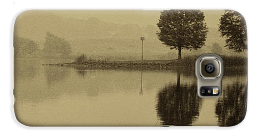 Fishing Galaxy S6 Case featuring the photograph Fishing At Marsh Creek State Park Pa. by Jack Paolini