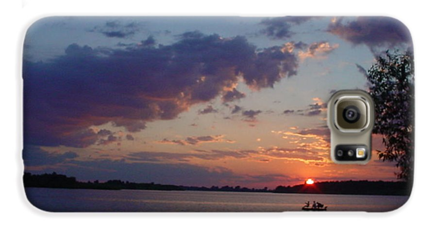 St.lawrence River Galaxy S6 Case featuring the photograph Fishing On The St.lawrence River. by Jerrold Carton
