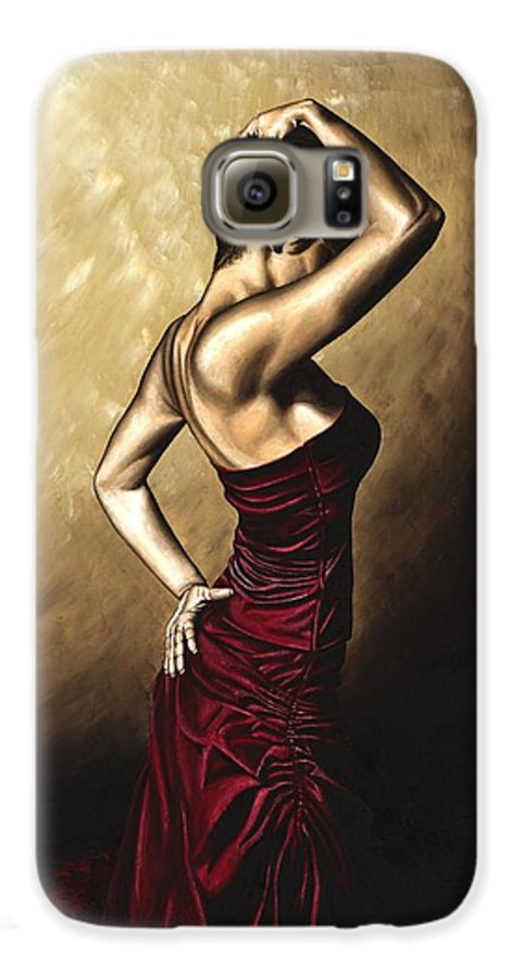 Flamenco Galaxy S6 Case featuring the painting Flamenco Woman by Richard Young