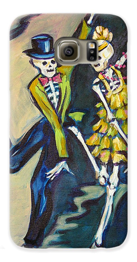 Dance Galaxy S6 Case featuring the painting Flappers by Sharon Sieben