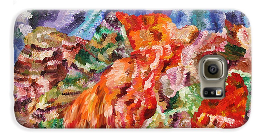 Fusionart Galaxy S6 Case featuring the painting Flock by Ralph White