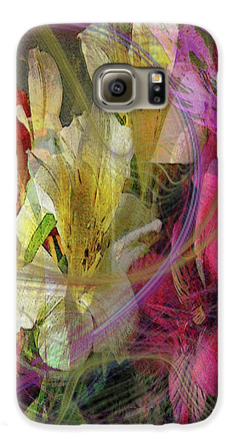 Floral Inspiration Galaxy S6 Case featuring the digital art Floral Inspiration by John Beck