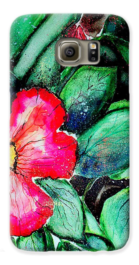 Exotic Galaxy S6 Case featuring the photograph Florida Flower by Margaret Fortunato