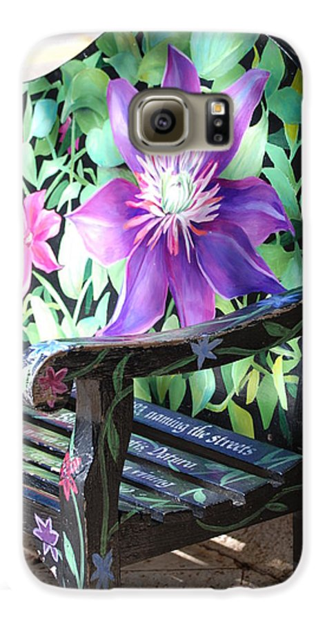 Macro Galaxy S6 Case featuring the photograph Flower Bench by Rob Hans