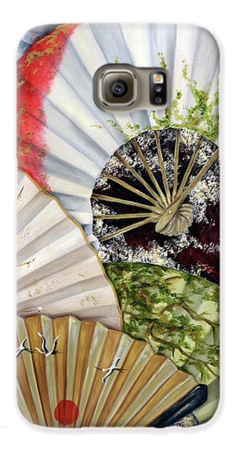 Japanese Galaxy S6 Case featuring the painting Flower Garden by Hiroko Sakai