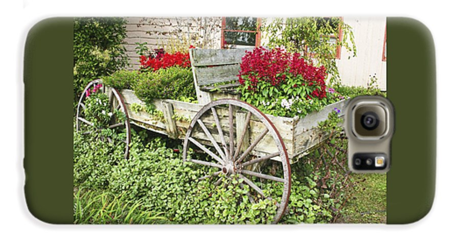 Wagon Galaxy S6 Case featuring the photograph Flower Wagon by Margie Wildblood