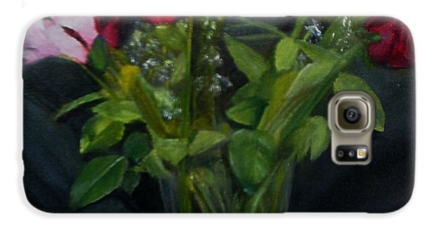 Flowers Galaxy S6 Case featuring the painting Flowers For Sarah by Sheila Mashaw