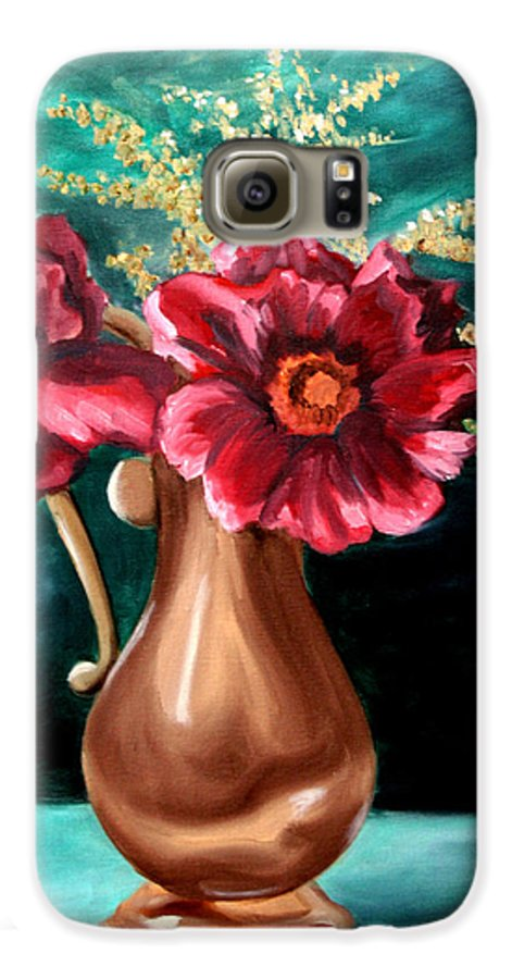 Flower Galaxy S6 Case featuring the painting Flowers by Maryn Crawford