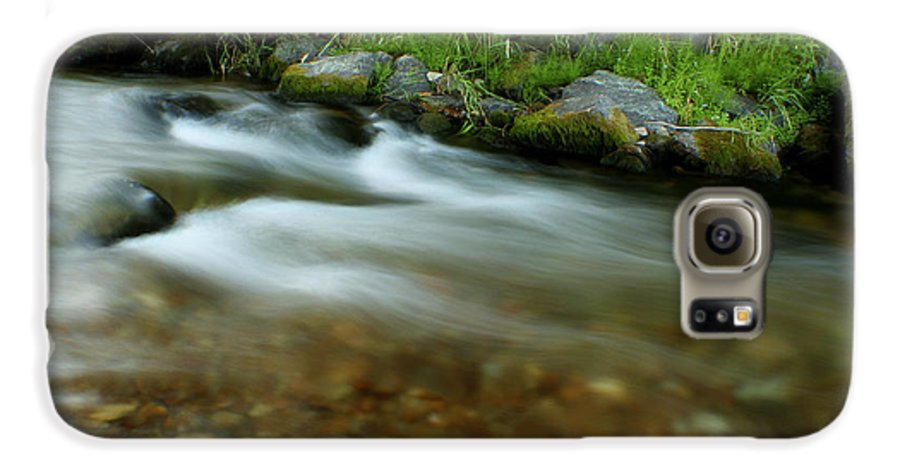 River Galaxy S6 Case featuring the photograph Flowing by Idaho Scenic Images Linda Lantzy