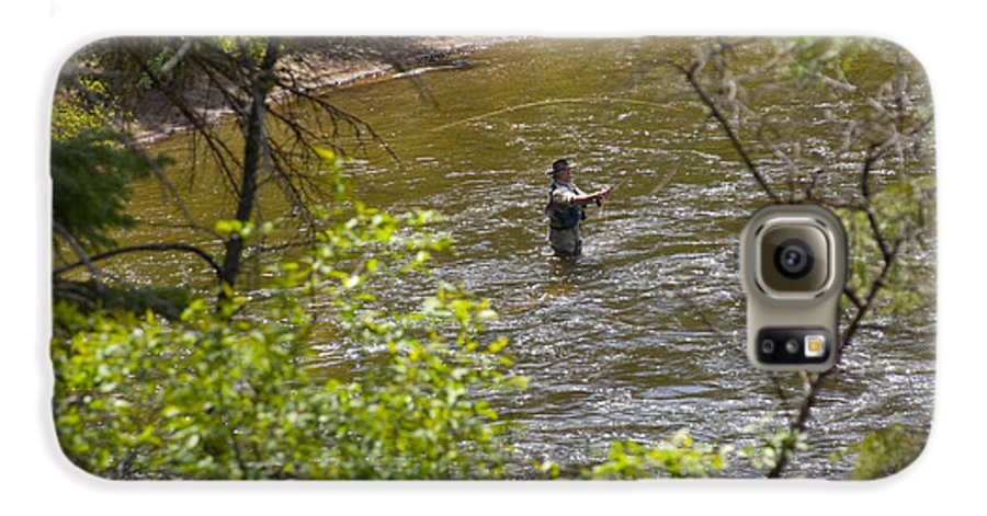 Fishing Galaxy S6 Case featuring the photograph Fly Fishing by Louise Magno