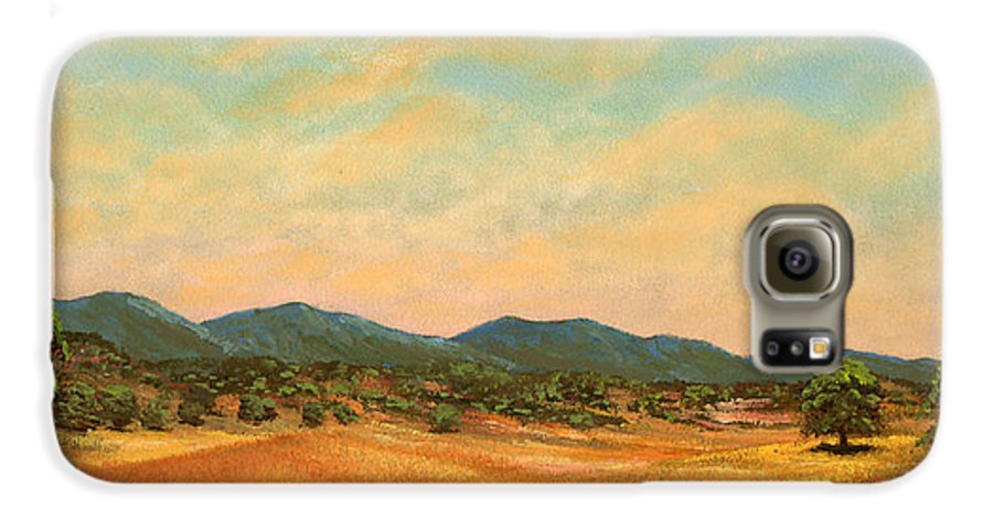 Landscape Galaxy S6 Case featuring the painting Foothills by Frank Wilson
