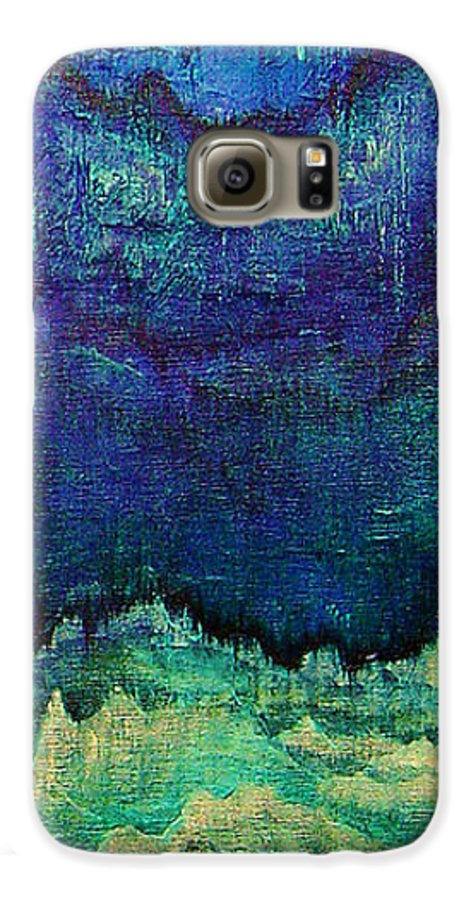 Blue Galaxy S6 Case featuring the painting For Linda by Shadia Derbyshire