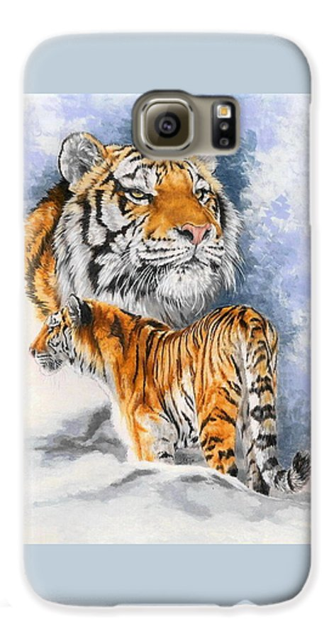 Big Cats Galaxy S6 Case featuring the mixed media Forceful by Barbara Keith