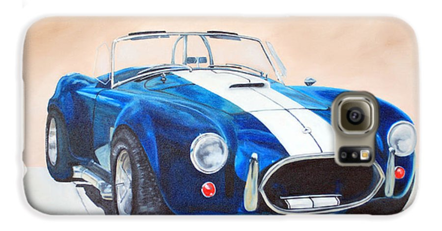 Car Galaxy S6 Case featuring the painting Ford Cobra In Oil by Margaret Fortunato