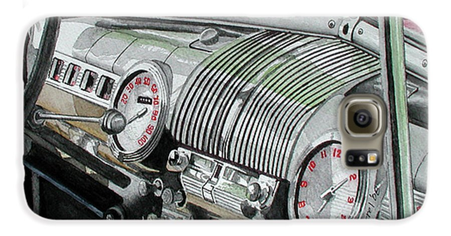 Car Galaxy S6 Case featuring the painting Ford Dash by Ferrel Cordle