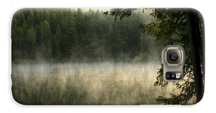 Fog Galaxy S6 Case featuring the photograph Forest And Fog by Idaho Scenic Images Linda Lantzy