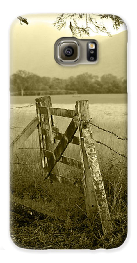 Gate Galaxy S6 Case featuring the photograph Forgotten Fields by Holly Kempe