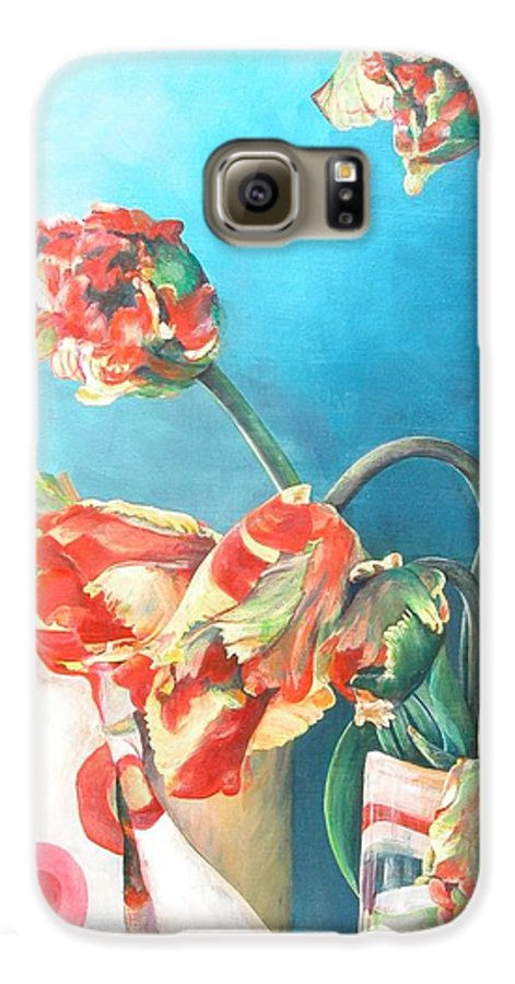 Still Life Galaxy S6 Case featuring the painting Foulard by Muriel Dolemieux
