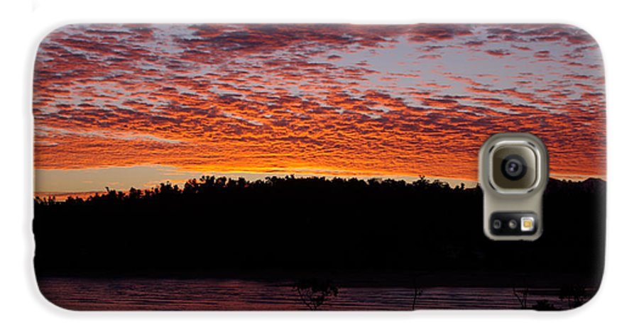 Landscape Galaxy S6 Case featuring the photograph Four Elements Sunset Sequence 2 Coconuts Qld by Kerryn Madsen - Pietsch