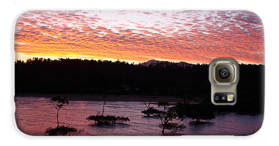 Landscape Galaxy S6 Case featuring the photograph Four Elements Sunset Sequence 3 Coconuts Qld by Kerryn Madsen - Pietsch