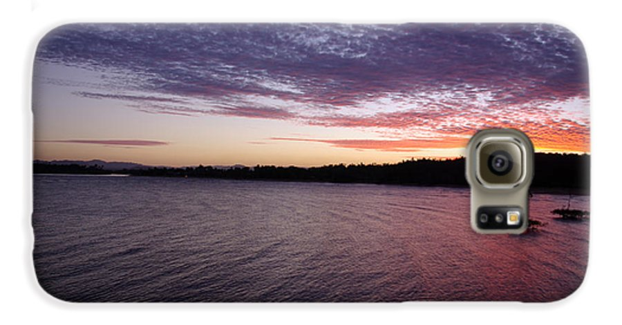 Landscape Galaxy S6 Case featuring the photograph Four Elements Sunset Sequence 4 Coconuts Qld by Kerryn Madsen- Pietsch