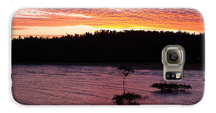 Landscape Galaxy S6 Case featuring the photograph Four Elements Sunset Sequence 5 Coconuts Qld by Kerryn Madsen - Pietsch