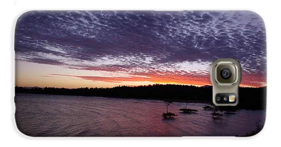 Landscape Galaxy S6 Case featuring the photograph Four Elements Sunset Sequence 7 Coconuts Qld by Kerryn Madsen - Pietsch
