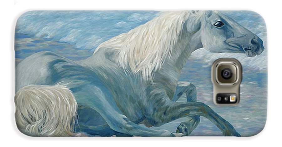 Seascape Galaxy S6 Case featuring the painting Free Spirit by Danielle Perry