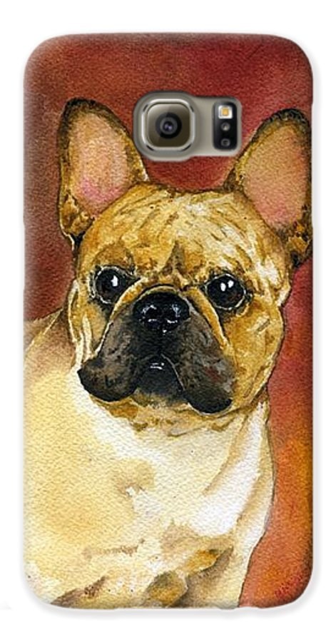 French Bulldog Galaxy S6 Case featuring the painting French Bulldog by Kathleen Sepulveda