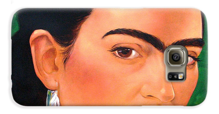 Frida Kahlo Galaxy S6 Case featuring the painting Frida Kahlo 2003 by Jerrold Carton