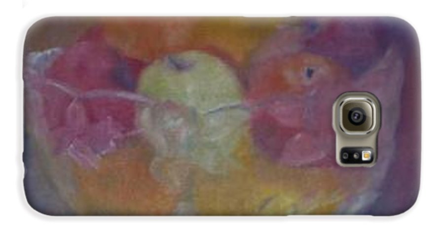 Still Life Galaxy S6 Case featuring the painting Fruit In Glass Bowl by Sheila Mashaw