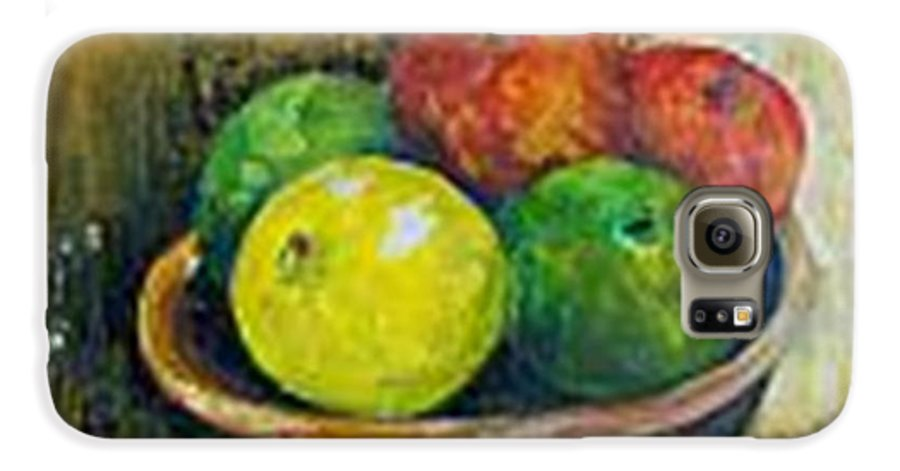 Apples And Oranges Galaxy S6 Case featuring the painting Frutas by Carol P Kingsley