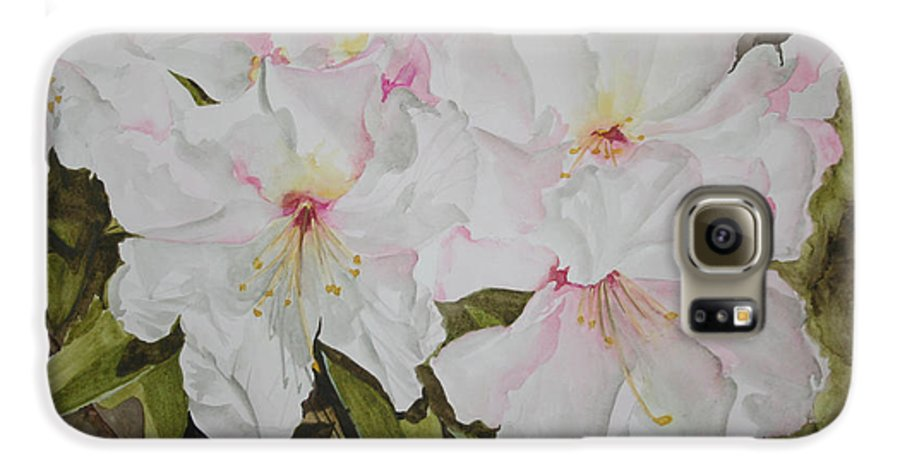 Flowers Galaxy S6 Case featuring the painting Full Bloom by Jean Blackmer