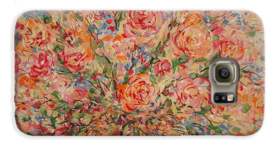 Flowers Galaxy S6 Case featuring the painting Full Bouquet. by Leonard Holland