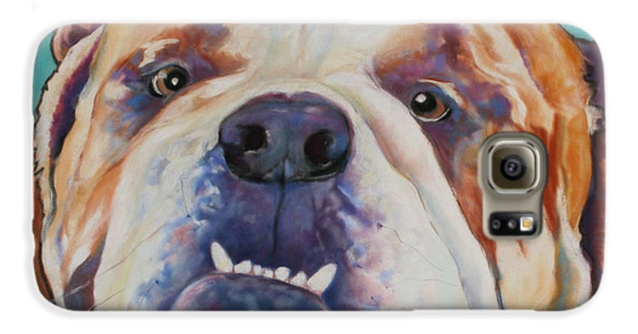Pat Saunders-white Pet Portraits Galaxy S6 Case featuring the painting Game Face  by Pat Saunders-White