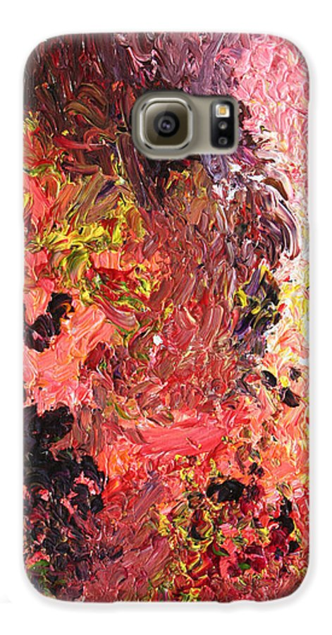 Fusionart Galaxy S6 Case featuring the painting Ganesh In The Garden by Ralph White