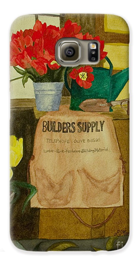 Tulips Galaxy S6 Case featuring the painting Gardner by Louise Magno