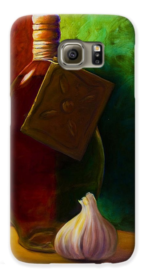 Shannon Grissom Galaxy S6 Case featuring the painting Garlic And Oil by Shannon Grissom