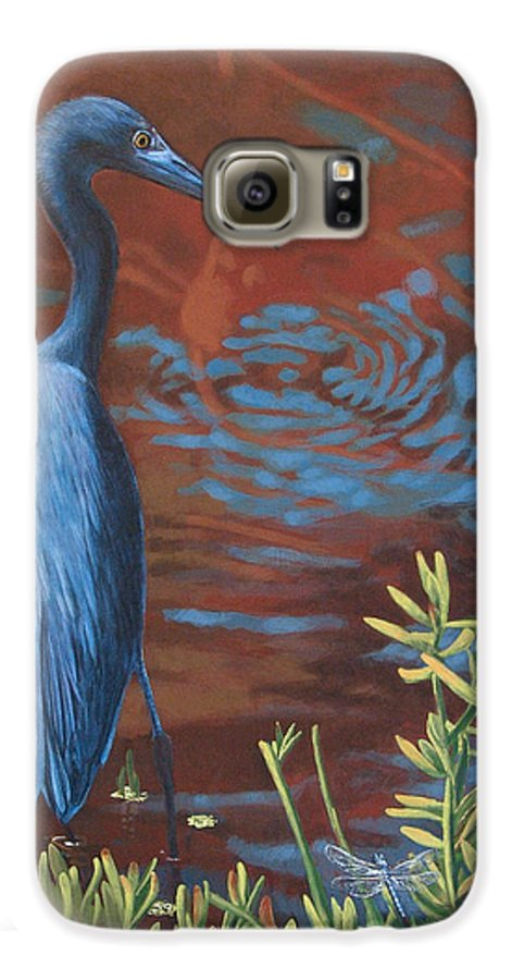 Painting Galaxy S6 Case featuring the painting Gazing Intently by Peter Muzyka