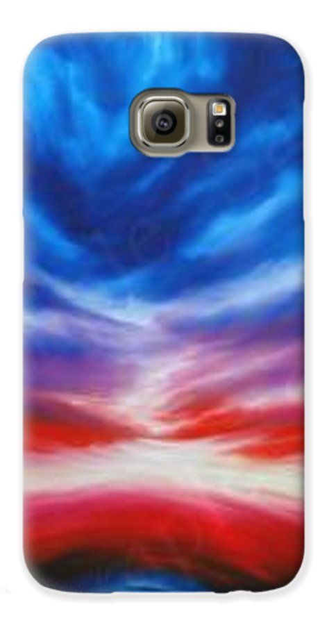 Tempest Galaxy S6 Case featuring the painting Genesis IIi by James Christopher Hill