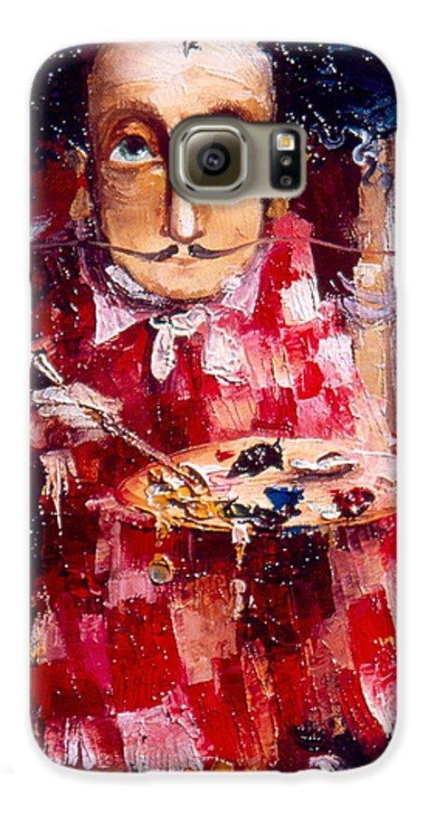 Genius Galaxy S6 Case featuring the painting Genius by Gia Chikvaidze