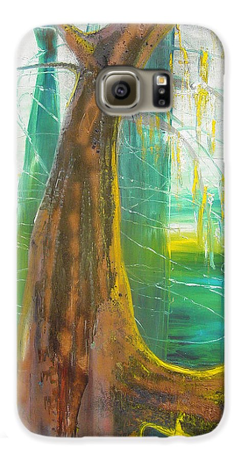 Landscape Galaxy S6 Case featuring the painting Georgia Morning by Peggy Blood
