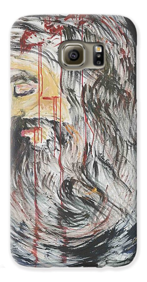 Jesus Galaxy S6 Case featuring the painting Gethsemane To Golgotha IIi by Nadine Rippelmeyer